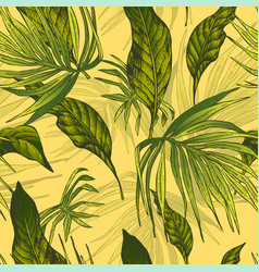 vintage seamless exotic background vector image