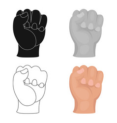 boxing fist icon in cartoon style isolated on vector image