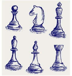Chess set vector image