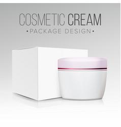 cream jar packaging empty paper box vector image