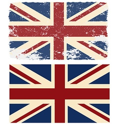 Flag of the uk in retro style vector