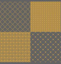 set holidays patterns vector image