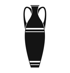 vase icon simple style vector image