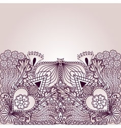 Background with elements of tribal style designs vector image vector image