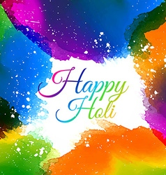 Indian holi festival colors vector