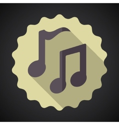 Music Note Flat Icon vector image vector image