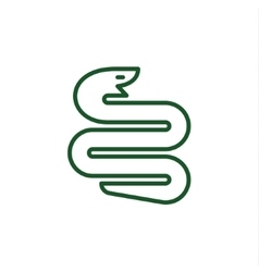 Snake with a linear trending flat style logo vector image vector image