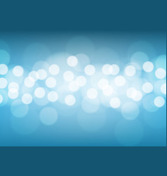 abstract white bokeh light on blue background vector image vector image