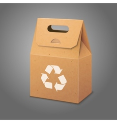 Blank paper craft packaging bag with handle vector image vector image