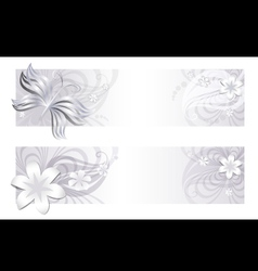 Delicate floral banners vector image vector image