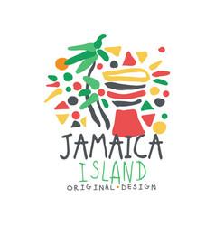 Jamaica summer vacation colorful logo vector