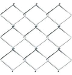 Metal Mesh Fence vector image vector image