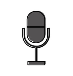 microphone communication device icon vector image