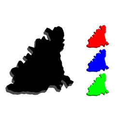 3d map of guernsey vector image