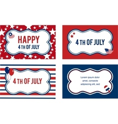 4th of july labels or cards vector