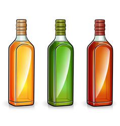 Alcohol bottles on white background vector