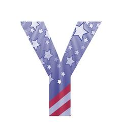 american letter Y vector image