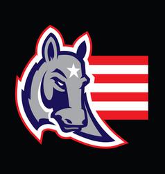 American politics concept a donkey vector