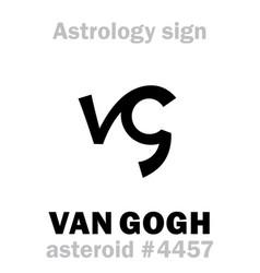 Astrology asteroid van gogh vector