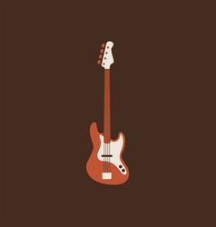 bass guitar icon isolated string ill vector image