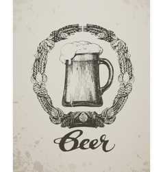 Beer Sketch oktoberfest festival Hand-drawn vector