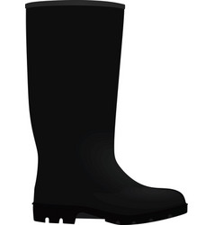 Black wellie vector