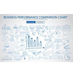 Business performance comparison chart concept vector