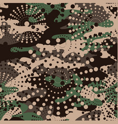 Camouflage and halftone pattern background vector