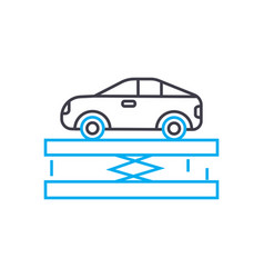 car lift thin line stroke icon car lift vector image