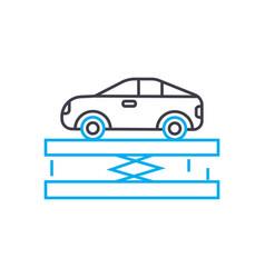 car lift thin line stroke icon car lift vector image