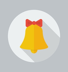 Christmas Flat Icon Bell vector image