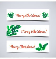 Christmas tree brunches vector image