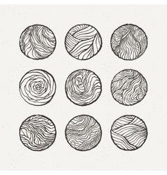 Circles set pattern vector