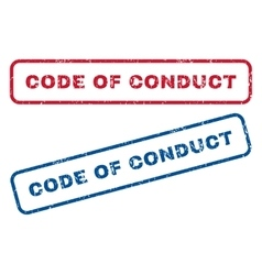 Code Of Conduct Rubber Stamps vector image