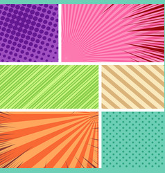 colorful comic frames composition vector image