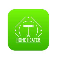 comfort heater icon green vector image