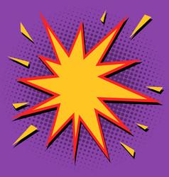 comic bubble sharp star vector image