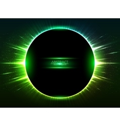 Dark green shining cosmic ring vector