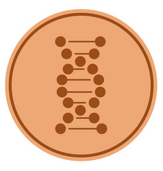 dna molecule bronze coin vector image