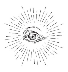 Eye of providence all seeing masonic symbol vector
