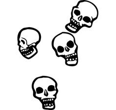 Falling skulls vector image