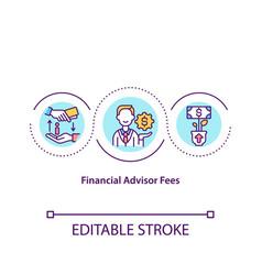 Financial advisor fees concept icon vector