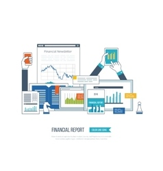 Financial report consulting teamwork management vector image vector image