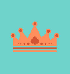 Flat icon on stylish background crown royal vector