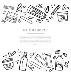 Hair removal banner with place for your text with vector