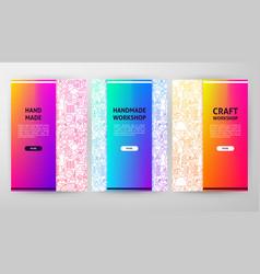 handmade brochure web design vector image