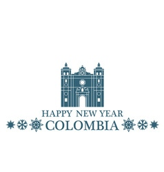 Happy New Year Colombia vector