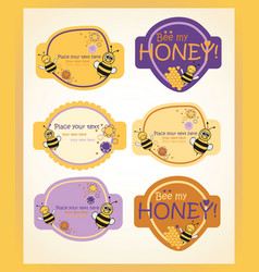 honey and lilac labels vector image