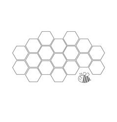 Honeycomb set Beehive element Honey icon Bee vector