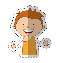 indian cute boy character vector image